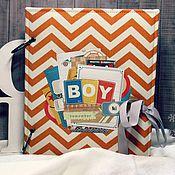 Подарки к праздникам handmade. Livemaster - original item Scrapbook album for baby boy. Handmade.