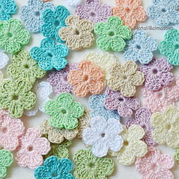 Materials for creativity handmade. Livemaster - original item Knitted flowers mini. Handmade.