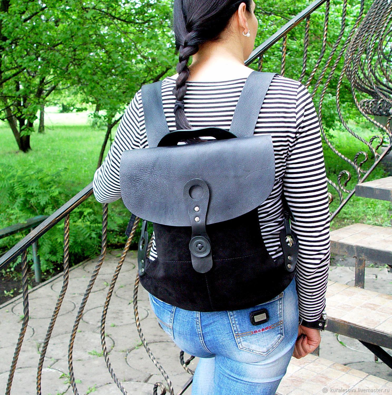 Handbags handmade. Livemaster - handmade. Buy Leather bag ' City black'.Handmade, bag every day, backing cloth