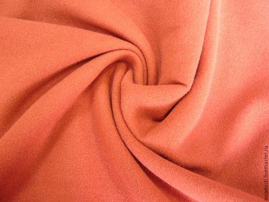 Шитье ручной работы. Ярмарка Мастеров - ручная работа. Купить Пальтовая ткань кирпичного цвета. Handmade. Коричневый, драп