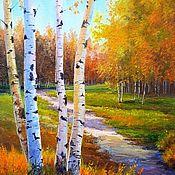 Картины и панно handmade. Livemaster - original item Oil painting Rannala Osenniy Chernov. Handmade.