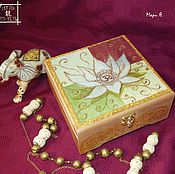Для дома и интерьера handmade. Livemaster - original item Jewelry box or under rosary handmade Indian Lotus. Handmade.