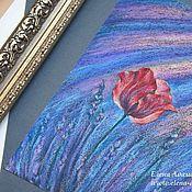 Картины и панно ручной работы. Ярмарка Мастеров - ручная работа Пастель картина Сердце лавандового поля. Цветы пастель. Handmade.