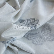 Аксессуары handmade. Livemaster - original item Whitish-grey tippet Butterfly of Italian fabric.. Handmade.