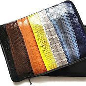 Сумки и аксессуары handmade. Livemaster - original item Case for laptop and documents from the skin of water snakes. Handmade.