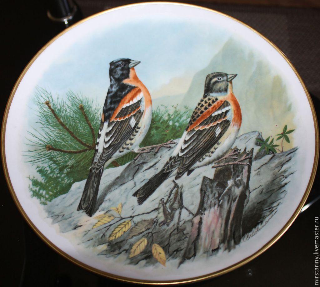 Decorative porcelain plate 'YUROK', Kaiser, Germany, Vintage interior, Moscow,  Фото №1