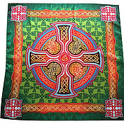 Фен-шуй и эзотерика handmade. Livemaster - original item Scarf Shawl Cape Celtic cross, the Beauty of nature. Handmade.