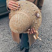 Аксессуары handmade. Livemaster - original item Straw Hat Cloche. Handmade.