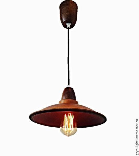 Освещение ручной работы. Ярмарка Мастеров - ручная работа. Купить Светильник подвесной LOFT P0110-1 , керамика. Handmade. Коричневый