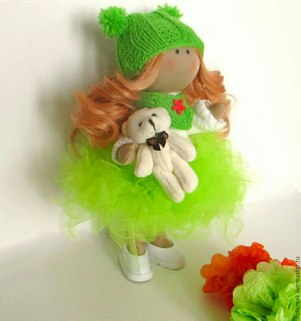 doll textile, Collectible Dolls handmade, Moscow, Фото №1