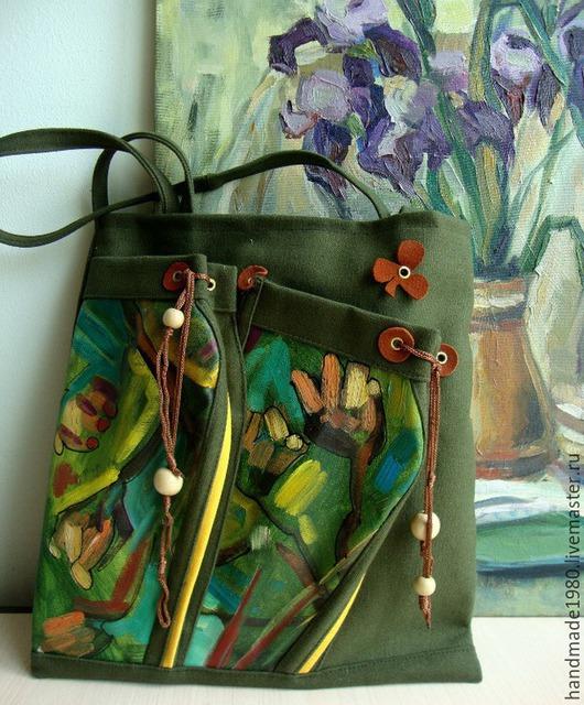 Женские сумки ручной работы. Ярмарка Мастеров - ручная работа. Купить авторские сумки с художественной росписью. Handmade. Разноцветный, Сумки