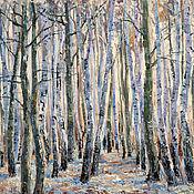 Картины и панно handmade. Livemaster - original item Oil painting Spring chime. Landscape with birches. Painting.. Handmade.