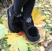 Обувь ручной работы. Ярмарка Мастеров - ручная работа Валенки черные. Handmade.