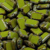 Материалы для творчества handmade. Livemaster - original item Czech glass bead art.11-3A, olive green. Handmade.