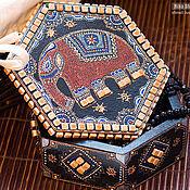 Для дома и интерьера ручной работы. Ярмарка Мастеров - ручная работа Индийская шкатулка. Handmade.