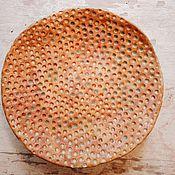 """Посуда ручной работы. Ярмарка Мастеров - ручная работа декоративная тарелка """"капли на песке"""". Handmade."""