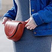 Поясная сумка ручной работы. Ярмарка Мастеров - ручная работа Сумка поясная женская из кожи АМФИТРИТА. Handmade.