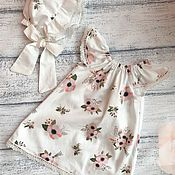 Платья ручной работы. Ярмарка Мастеров - ручная работа Платье с чепчиком. Handmade.