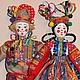 Народные куклы ручной работы. Ярмарка Мастеров - ручная работа. Купить Скоморохи (пара). Handmade. Народная кукла, шут, ситец