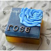 """Косметика ручной работы. Ярмарка Мастеров - ручная работа """"Голубая роза"""" Мыло ручной работы. Handmade."""