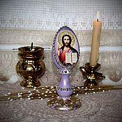 Подарки к праздникам handmade. Livemaster - original item Easter egg interior with the icon of Jesus Christ the Savior.. Handmade.