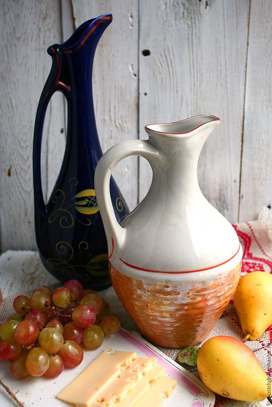 Винтажная посуда. Ярмарка Мастеров - ручная работа. Купить Кувшин грузинский Белый с люстром. Handmade. Комбинированный, кувшин, кувшин для вина
