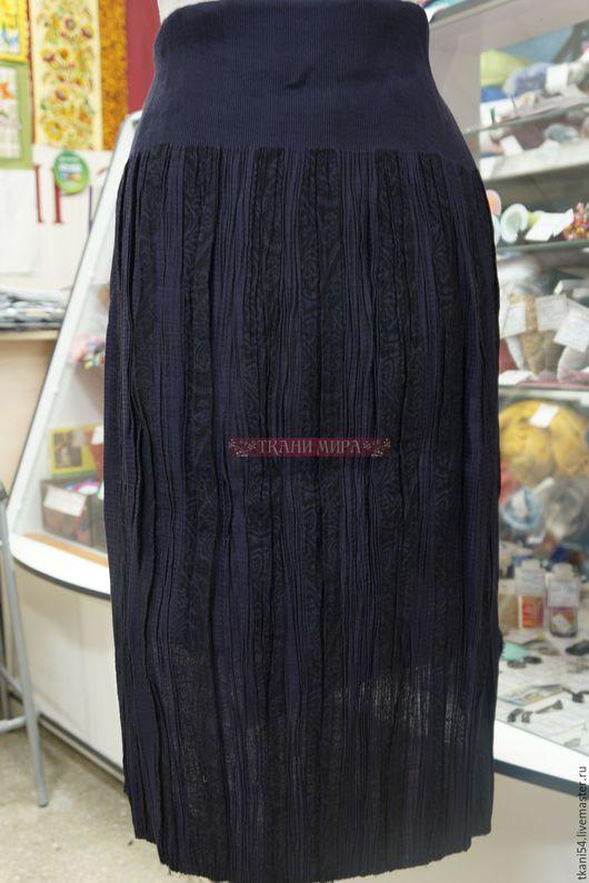 Шитье ручной работы. Ярмарка Мастеров - ручная работа. Купить Заготовка для юбки, синий. Handmade. Тёмно-синий, юбка