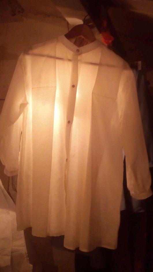 Блузки ручной работы. Ярмарка Мастеров - ручная работа. Купить Нежная свободная блузка со стойкой. Handmade. Блузка женская