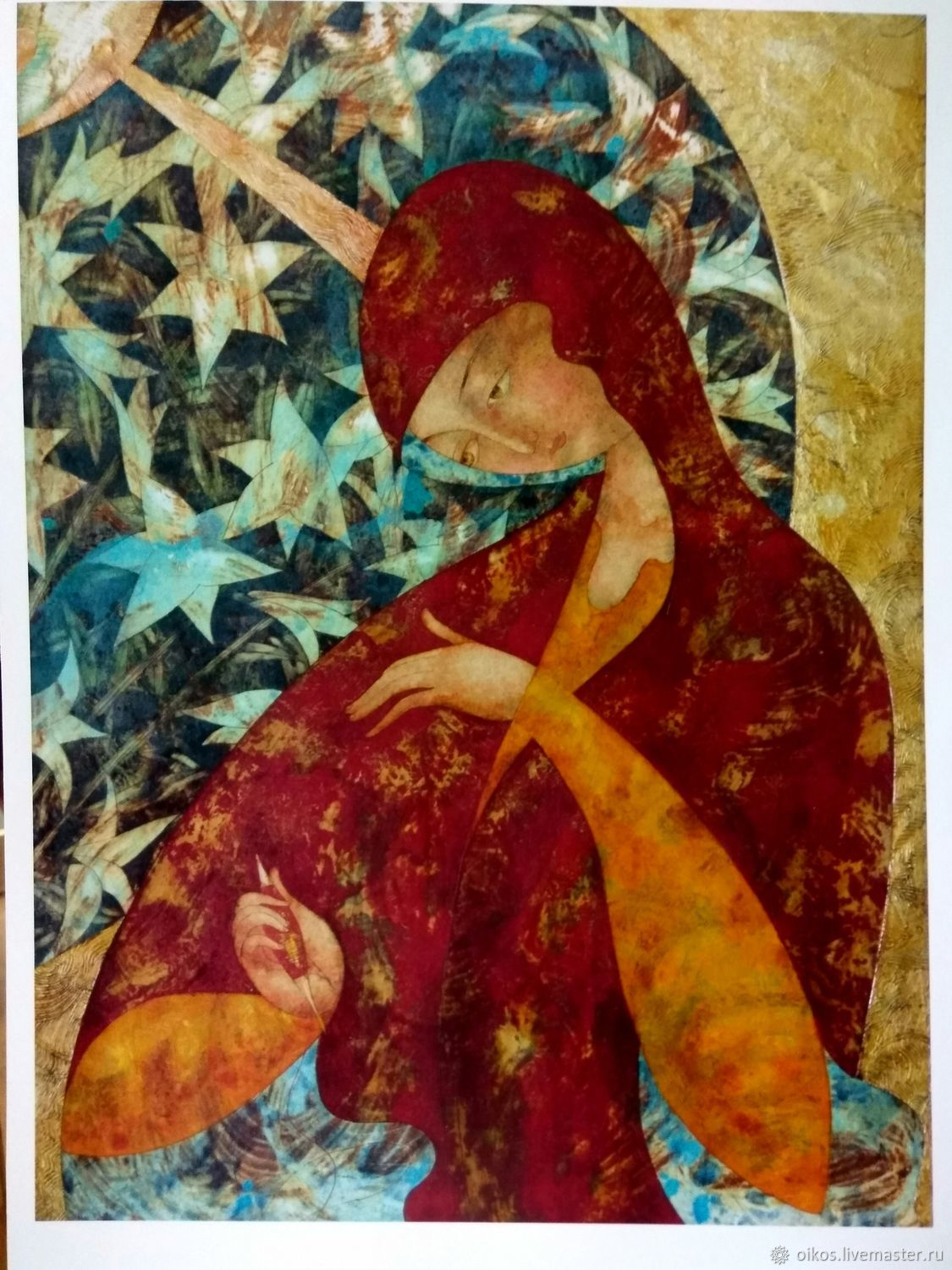 Print on paper modern architectural icon of the virgin Mary A4, Icons, St. Petersburg,  Фото №1