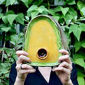 Посуда handmade. Livemaster - original item Ceramic avocado. Avocado ceramic plate for breakfast. Handmade.