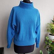 Одежда handmade. Livemaster - original item Blue sweater made of 100% cashmere. Handmade.