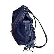 Сумки и аксессуары ручной работы. Ярмарка Мастеров - ручная работа Кожаный рюкзак-сумка. Handmade.