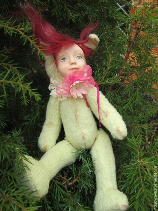 Коллекционные куклы ручной работы. Ярмарка Мастеров - ручная работа. Купить Тедди-долл Мотильда. Handmade. Салатовый, подарок девушке