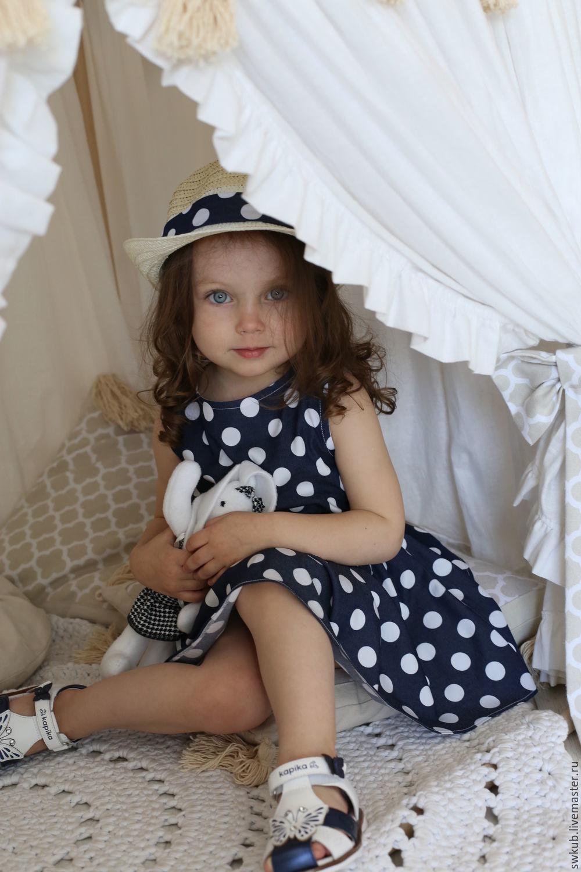 Платье в горошек, Одежда для девочек, Мытищи, Фото №1