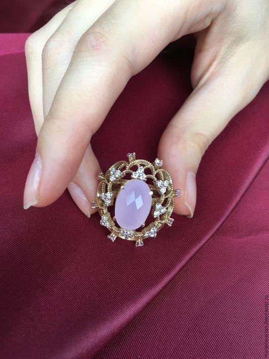 Комплекты украшений ручной работы. Ярмарка Мастеров - ручная работа. Купить Мanon. Золотое кольцо с бриллиантами и розовым кварцем. Handmade.
