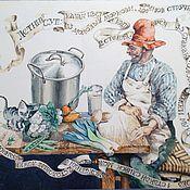 Для дома и интерьера ручной работы. Ярмарка Мастеров - ручная работа Петсон и Финдус  столик и стульчик). Handmade.