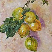 Картины и панно handmade. Livemaster - original item Oil painting Lemons. Handmade.