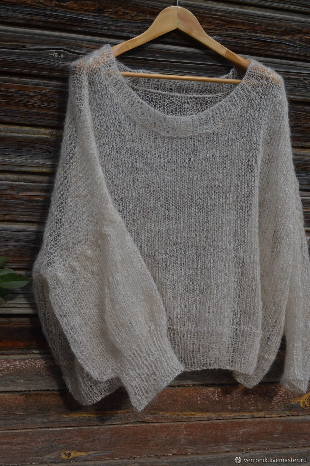 Knitted pullover ' Cloud'. Handmade mohair pullover, Pullover Sweaters, Samara,  Фото №1