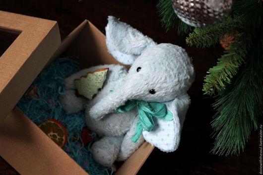 Мишки Тедди ручной работы. Ярмарка Мастеров - ручная работа. Купить Тедди слоник Облачкин. Handmade. Голубой, тедди слон