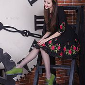 Обувь ручной работы. Ярмарка Мастеров - ручная работа Валяные полуботинки Изумрудный город-2. Handmade.