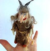 """Куклы и игрушки ручной работы. Ярмарка Мастеров - ручная работа """"Баба ЯГА"""" пальчиковая игрушка. Handmade."""