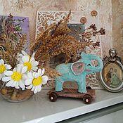 Куклы и игрушки ручной работы. Ярмарка Мастеров - ручная работа Мятный нежный Слоник. Handmade.