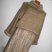 Одежда handmade. Livemaster - original item Dress warm knitted long puffer. Handmade.