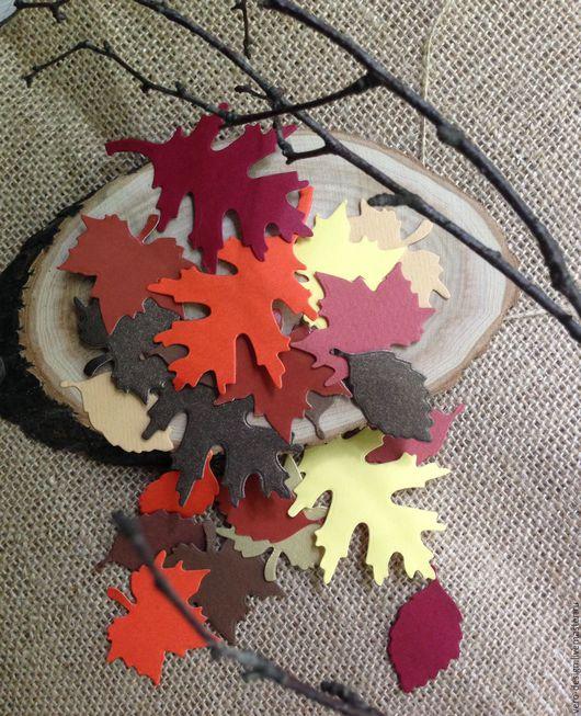 """Открытки и скрапбукинг ручной работы. Ярмарка Мастеров - ручная работа. Купить Набор вырубок  для скрапбукинга  """"Осенние листья"""" 15 шт 4-7 см. Handmade."""