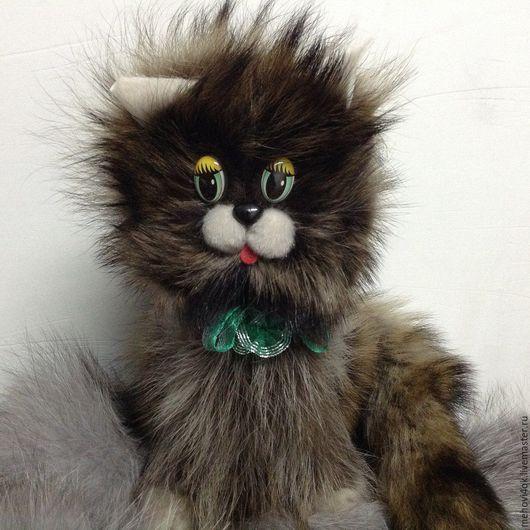 """Куклы и игрушки ручной работы. Ярмарка Мастеров - ручная работа. Купить Игрушка из меха """"Кот"""". Handmade. Комбинированный, меховая игрушка"""