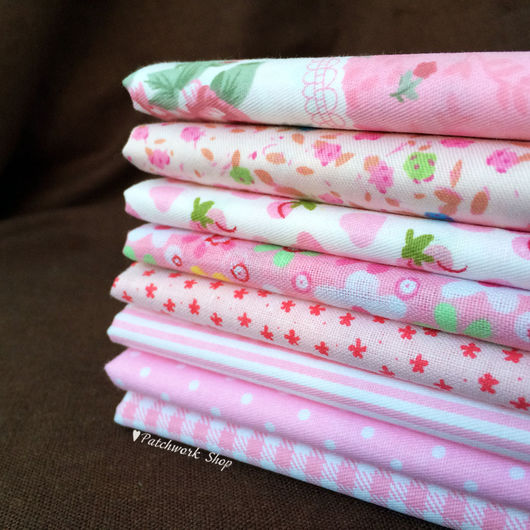 Куклы и игрушки ручной работы. Ярмарка Мастеров - ручная работа. Купить Набор тканей для пэчворка (NEW розовый). Handmade.