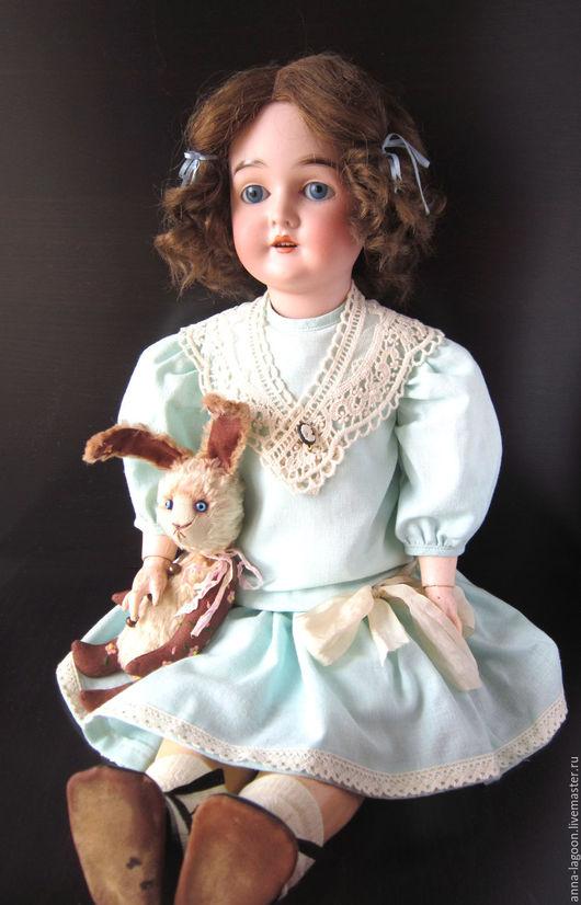 Коллекционные куклы ручной работы. Ярмарка Мастеров - ручная работа. Купить Антикварная кукла Queen Louise. Handmade. Голубой