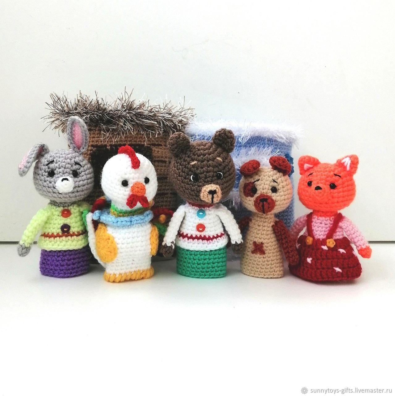 Finger theater Zayushkina hut house glove, Puppet show, Berezovsky,  Фото №1