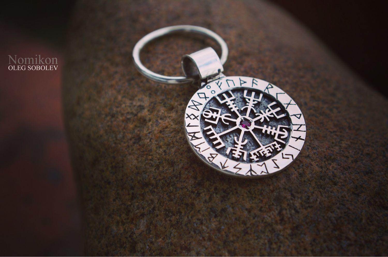 Vegvisir, the Runic compass keychain (Pointer path), Amulet, St. Petersburg,  Фото №1