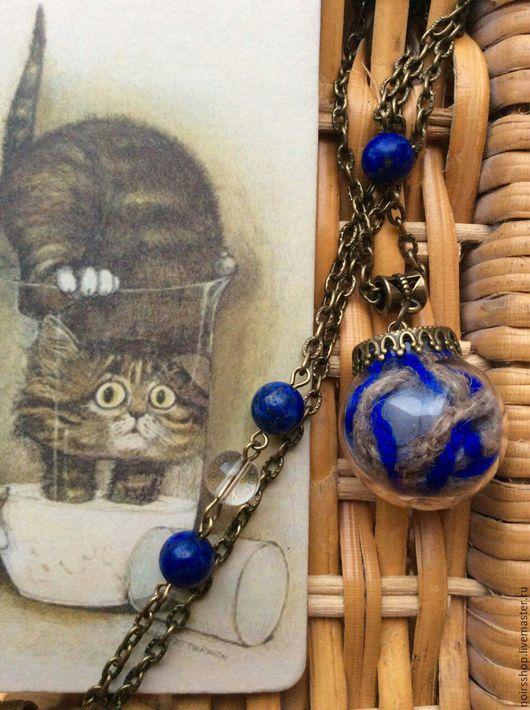 Стеклянный кулон-сфера Колыбель Для Кошки CAT NOIR`s SHOP